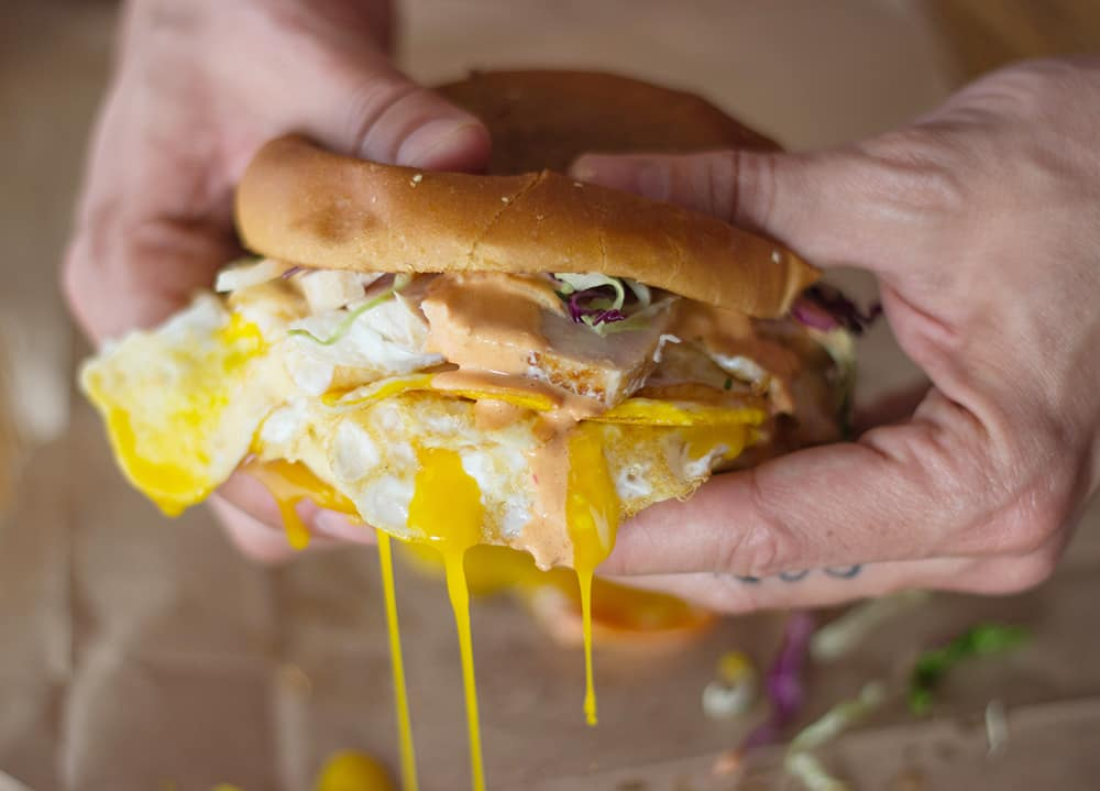 Slapfish - Albacore breakfast sandwich