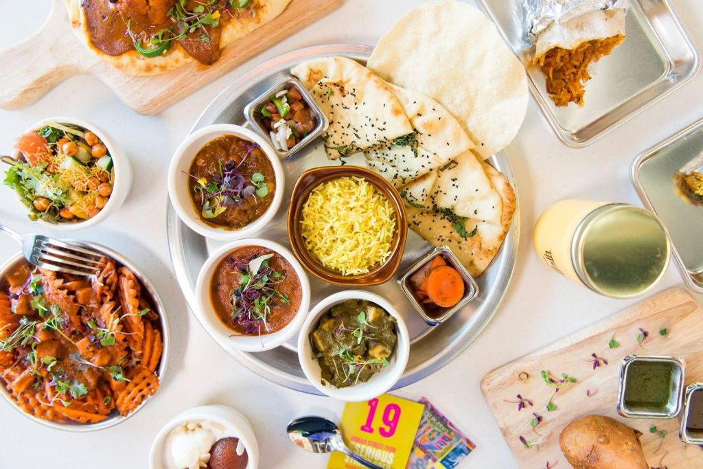 Indian fast casual restaurant Curry Up Now Food Platter