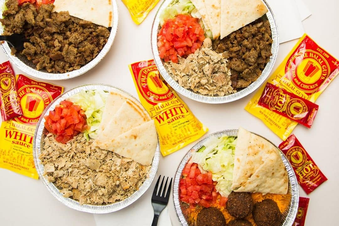 Halal guys food spread