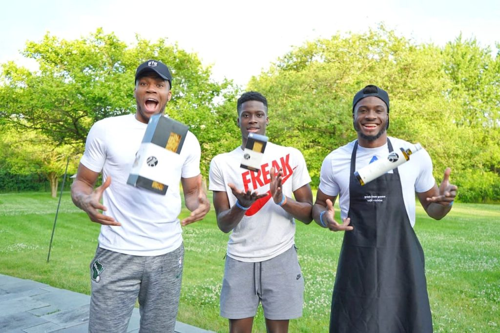 Giannis Antetokounmpo and brothers