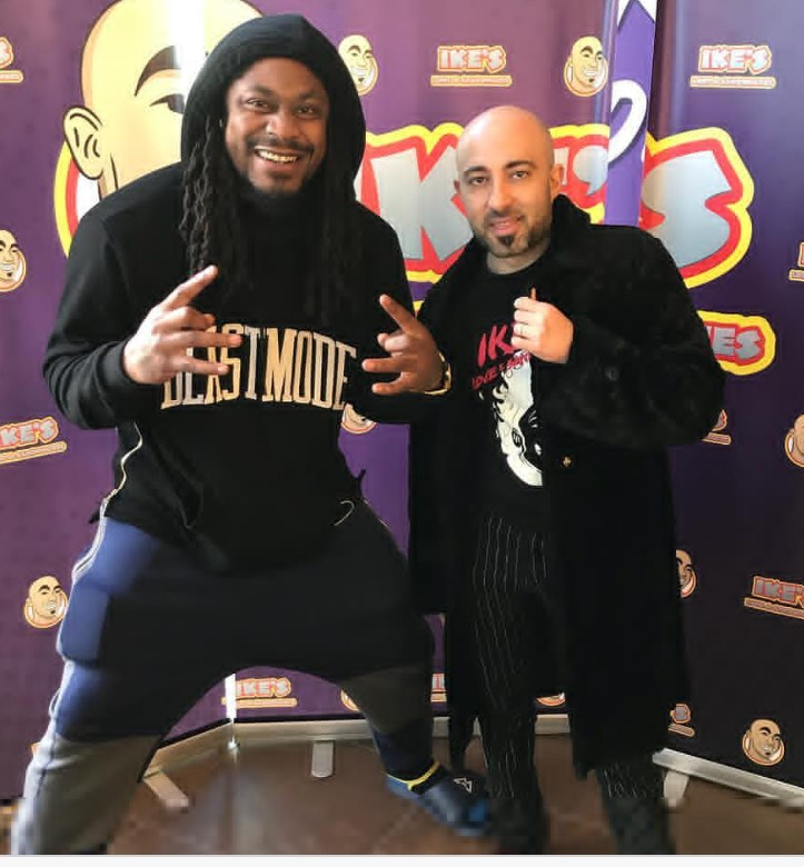 sandwich franchise opportunity founderIke Shehadeh and Marshawn Lynch