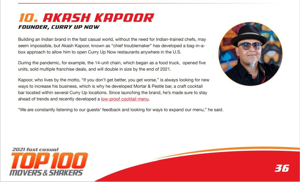 CEO Akash Kapoor named to Top Execs List